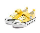 Кеды Fashion S5795(31-37) желтые, фото 4