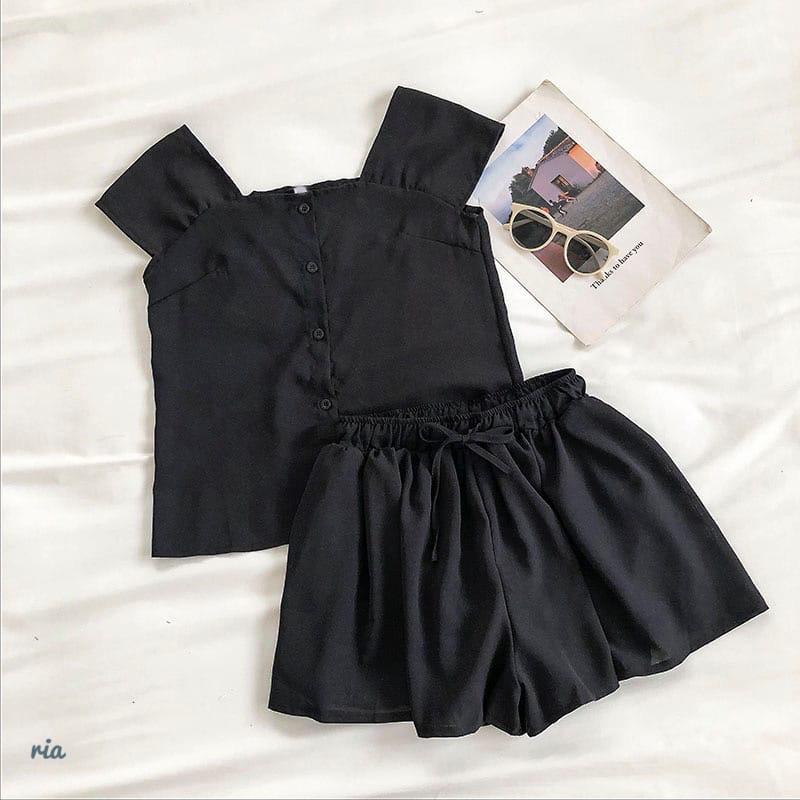 Річний шифоновий костюм двійка з майкою і шортами 77101044