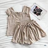 Річний шифоновий костюм двійка з майкою і шортами 77101044, фото 2