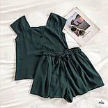 Річний шифоновий костюм двійка з майкою і шортами 77101044, фото 3