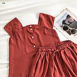 Річний шифоновий костюм двійка з майкою і шортами 77101044, фото 4