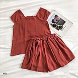 Річний шифоновий костюм двійка з майкою і шортами 77101044, фото 5