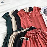 Річний шифоновий костюм двійка з майкою і шортами 77101044, фото 6