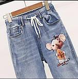 Женский джинсовый костюм с футболкой и рисунком 79101052, фото 2
