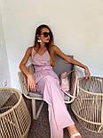 Жіночий літній комбінезон з брюками-кльош і верхи на запах з бретелями 36101054, фото 6
