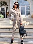 Жіночий джинсовий комбінезон з довгим рукавом і рубашечным верхи 36101055, фото 2