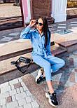 Жіночий джинсовий комбінезон з довгим рукавом і рубашечным верхи 36101055, фото 3