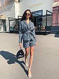 Женский твидовый  костюм с шортами и жакетом под пояс 71101063, фото 4