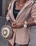 Короткий вязаный кардиган женский с капюшоном 4109270, фото 2