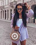 Короткий вязаный кардиган женский с капюшоном 4109270, фото 4