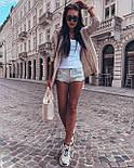 Короткий вязаный кардиган женский с капюшоном 4109270, фото 5