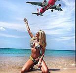 Раздельный женский купальник двойка с леопардовыми вставками 6125560, фото 2