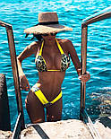 Раздельный женский купальник двойка с леопардовыми вставками 6125560, фото 3