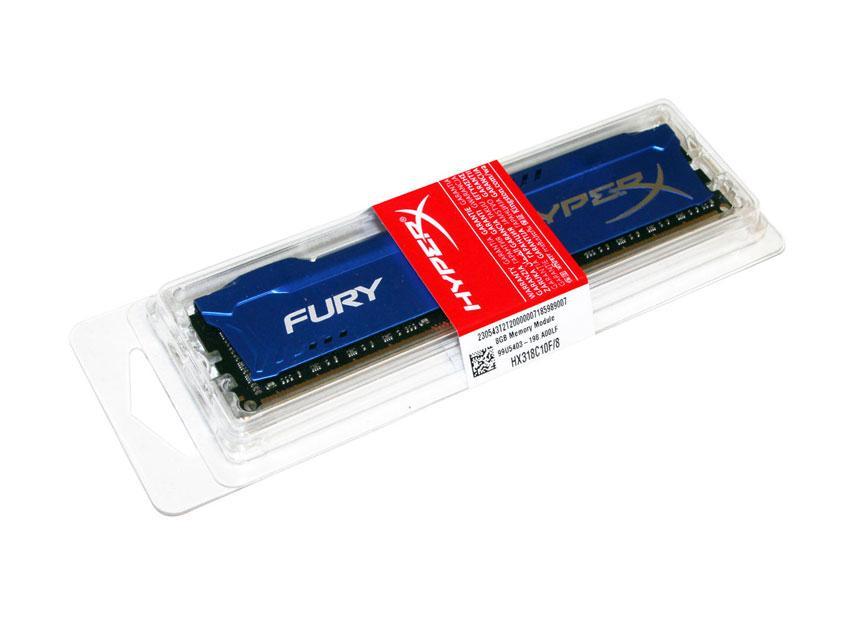 Оперативная_память_ДДР3_8 Гб_1866_HyperX_Fury_Blue_kingston