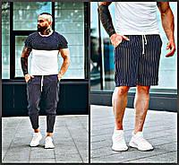 3в1 Летний мужской комплект спортивный костюм