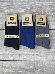 Чоловічі стрейчеві шкарпетки Sanbella високі антибактеріальні 39-41 41-44 12 шт уп асорті