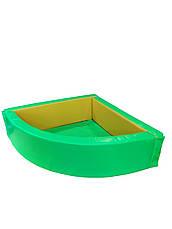 Сухой бассейн угловой 130х130х40 см, фото 2