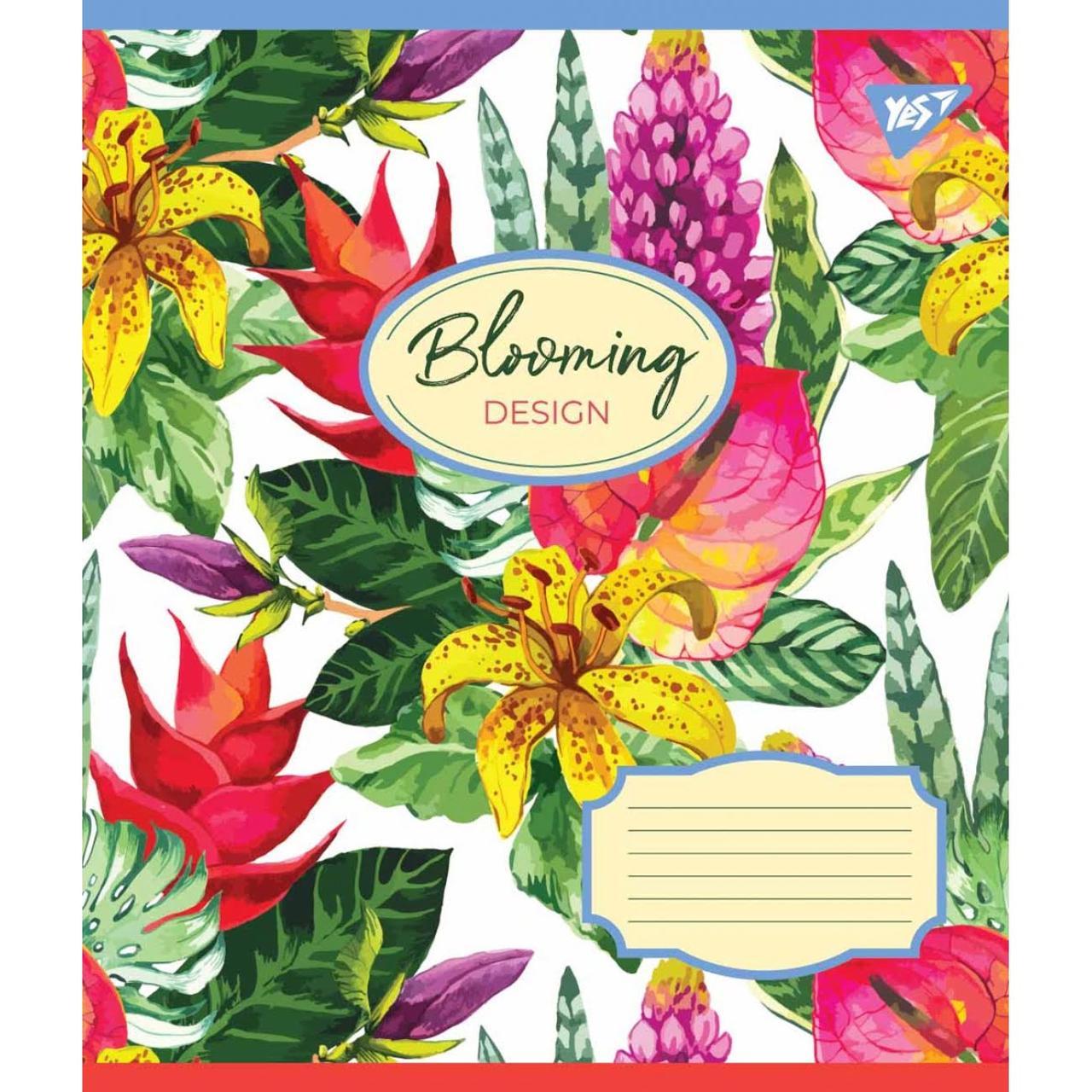 Зошит 12арк. кос.лін. YES Blooming №764829(25)(500)