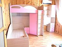 Изготовление детской мебели на заказ - двухярусная кровать для девочки. Авторская дизайнерская мебель Одесса