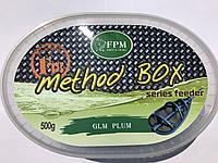 Пеллетс для рыбалки Method box FPM F18 Micro Pellets 500г + Aroma 50мл GLM Plum Ракушка Слива