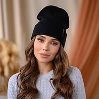"""Вязанная шапка """"Крио"""" цвет-черный"""