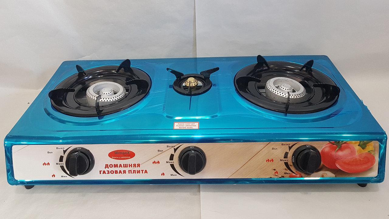 Газовая плита таганок Wimpex-1103, 3 конфорки