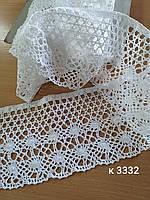 Мереживо біле ширина 12.5  см  /Кружево белое ширина 12.5 см, фото 1