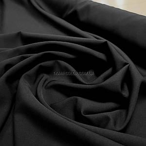 Костюмна тканина креп барбі чорна