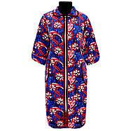 Женский велюровый халат с рукавом 3\4 с 48 по 74 размер, фото 3