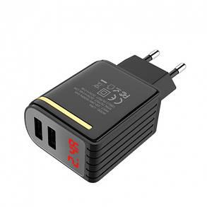 Сетевое зарядное устройство Hoco C39A Enchanting (2USB, 2.4A) Black, фото 2