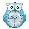 """Детские часы - будильник. """"Совунья"""" 15х15х11 см голубой цвет"""