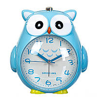 """Детские часы - будильник. """"Совунья"""" 15х15х11 см голубой цвет, фото 1"""