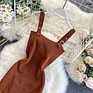 Женский сарафан на ремешках из машинной вязки 77py1514, фото 4
