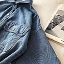 Джинсовое платье - рубашка с поясом и длинным рукавом 68py1532, фото 4