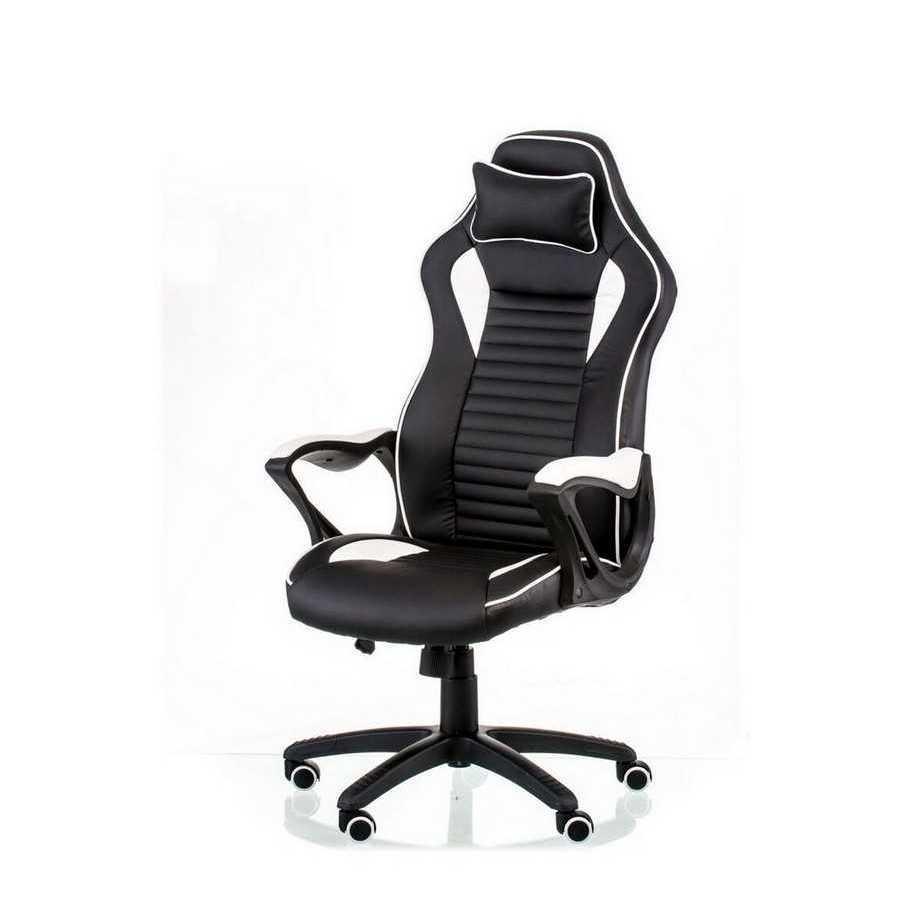 Крісло офісне геймерське Nеro black/white Special4You