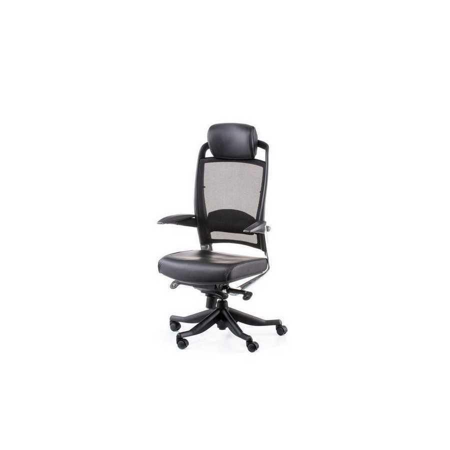 Крісло офісне Fulkrum black lеathеr, black меѕһ Special4You