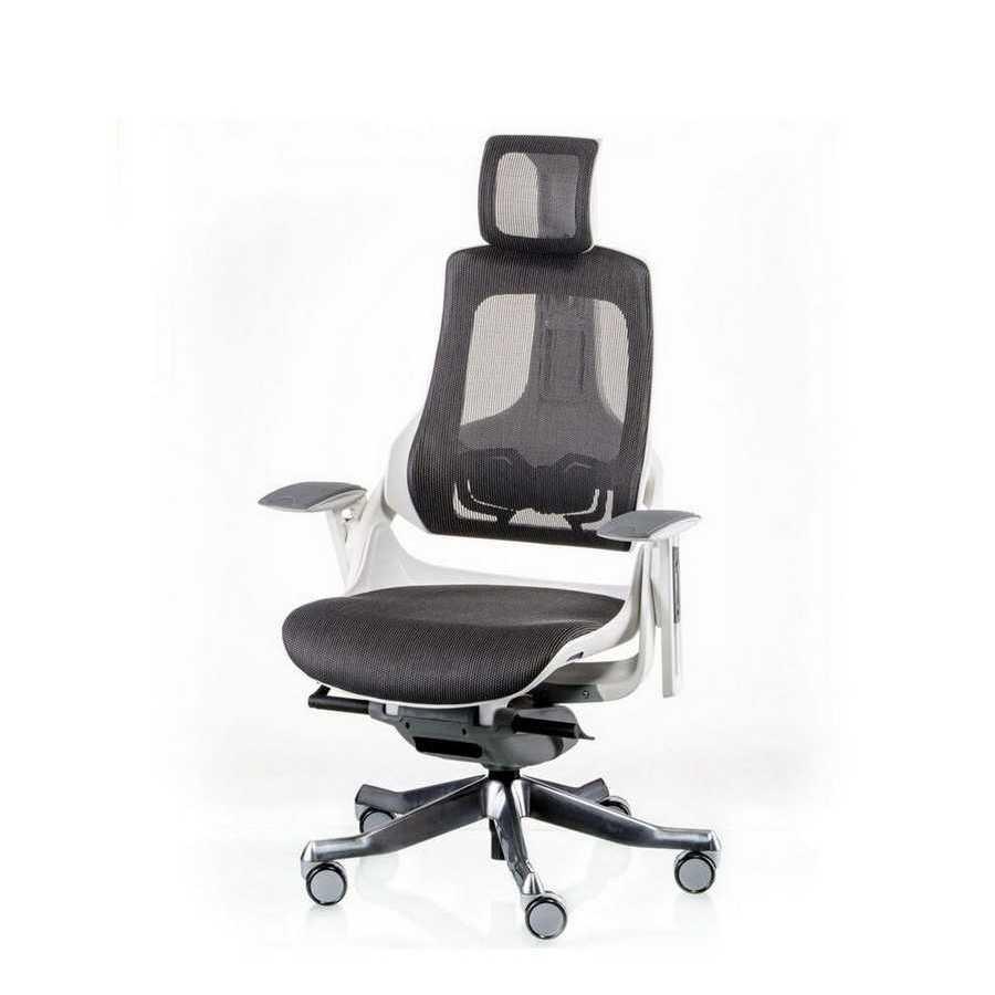 Крісло офісне WAU CHARCOAL NETWORK WHITE Special4You