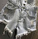 Джинсовый комбинезон шортами на лямках с пуговицами спереди 68ks1060, фото 2