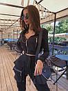 Женский брючный костюм с брюками карго с накладными карманами и укороченным бомбером на молнии 71ks1065, фото 4