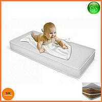 "Матрас детский для кроваток ""Lux baby®Premium Eco Latex"", размер 120*60*12см + наматрасник в подарок"