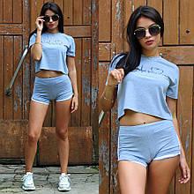 Костюм женский летний футболка шорты 42
