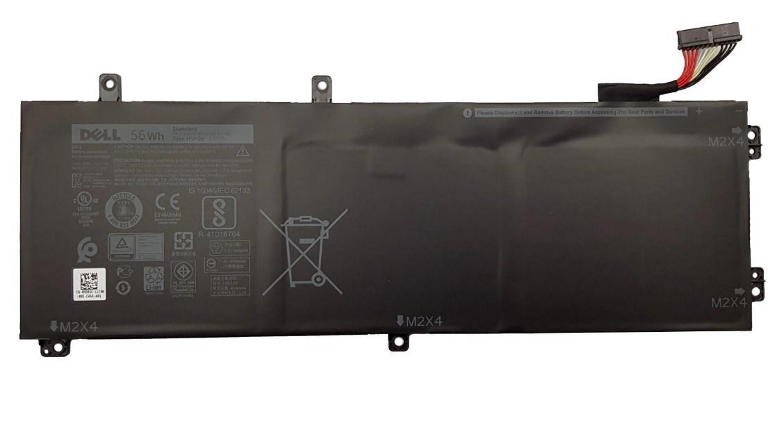 Оригинальная батарея Dell  XPS 15 9560 9570 (H5H20 - 11.4V 56Wh) - Аккумулятор, АКБ