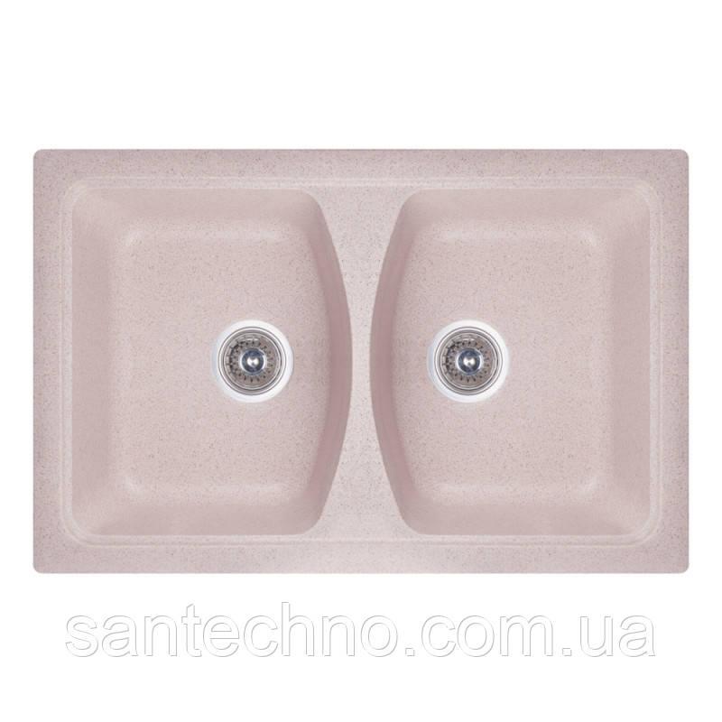 Кухонная двойная мойка из гранита Cosh 7950 kolor 806 Песочный