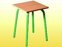 Табурет для столовых, квадратный, на металлическом каркасе, 310х310х440 мм.