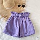 Женские летние коттоновые шорты с поясом 77SY23, фото 2