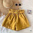 Женские летние коттоновые шорты с поясом 77SY23, фото 3