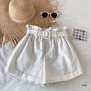 Женские летние коттоновые шорты с поясом 77SY23, фото 4
