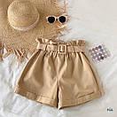 Женские летние коттоновые шорты с поясом 77SY23, фото 5