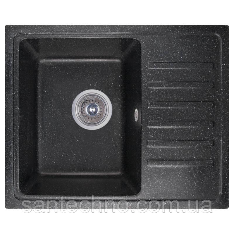 Кухонная гранитная мойка Cosh 5546 kolor 420 (Черная)