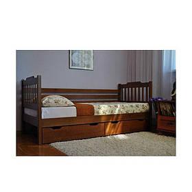 Кровать деревянная из массива дерева Ева